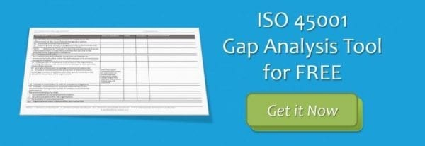 CTA Gap Analysis ISO 45001