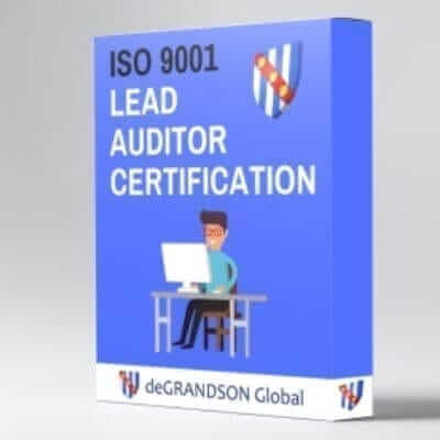 deGRANDSON Global ISO 9001 Quality Management System (QMS) Lead Auditor Online Certification