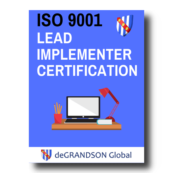 deGRANDSON Global ISO 9001 Quality Management System (QMS) Lead Implementer Certification online